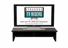 "Black ""X-Large TRIPLE TIER"" TV RISER36"" w x 14"" d x 8/4""high by syracusetvrisers"
