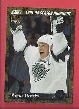 1993-94 Score Gold Rush #662 Wayne Gretzky - NM-MT