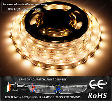 5m Indoor 300x 3528 LED Warm White Fairy Lights Home Decorative Strips 12VDC