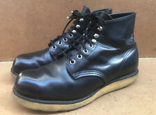 Red Wings  Classic Round Toe Black Leather Boots USA 7.5 2 E || UK 6.5