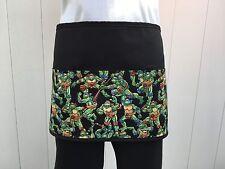 Black Ninja Turtle server waitress waist apron 3 pocket  restaurant Classyaprons