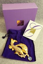 Elizabeth Taylor Avon Sea Shimmer Koi Fish Brooch Pin w Box & Papers