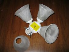HAMPTON BAY CEILING FAN LIGHT KIT SNAP ON  WHITE  FAUX ALABASTER GLASS GLOBES