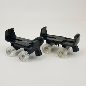 Build A Bear Workshop Classic Black Roller Skates Clear Wheels Adjustable BABW
