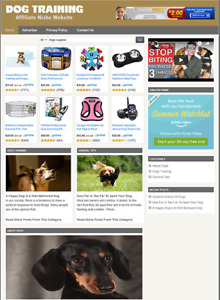 DOG TRAINING INFORMATION - Affiliate Website For Sale - Free Installation