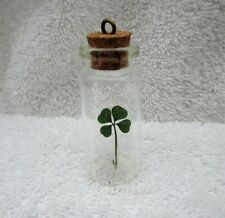 Real Four Leaf Clover-Mother's Day Wishing Bottle-One 4 Leaf Clover in a Bottle