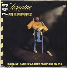 "BAD MANNERS - Lorraine - VINYL 7"" 45 LP ITALY 19810 VG+ COVER  VG-"