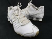 Nike 739637-102 Shox Current GS White Leather Lace Running Shoe Youth 7Y Euro 40