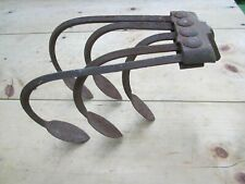 VINTAGE 5 TINE CULTIVATOR GARDEN HAND PUSH PLOW ATTACHMENT