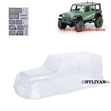 Clear PVC Body Shell & Decal For 313mm RC 1/10 Climbing Jeep Wrangler D90 Car