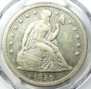 1850-O Seated Liberty Silver Dollar $1 - PCGS AU Details - Rare Early Date Coin!