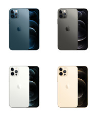 "Apple iPhone 12 Pro 6.1"" A2407, 128GB 256GB 512GB, Blue Graphite Silver Gold"