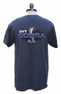 NEW FORD MUSTANG SVT COBRA BLUE GREY MENS SHIRT SOLD EXCLUSIVELY HERE 2 SIDED
