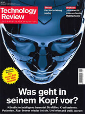 Technology Review, August 08/2017: Was geht in seinem Kopf vor?  +++ wie neu +++