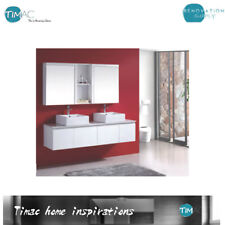 1800mm Wall Hung Bathroom Vanity  DOUBLE BOWL Above Counter Stone Top Vanity
