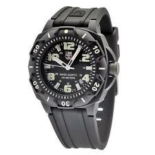 Reloj para Hombre Luminox negro Sentry serie 0200 0201.SL correa de goma de silicona