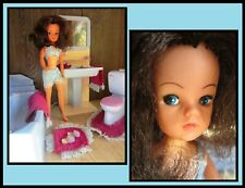 Pedigree Sindy doll, vintage, with her blue bathroom set