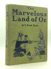 THE MARVELOUS LAND OF OZ - L. Frank Baum - 1904 1st ed, 1st prtg - Green cloth