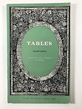Tables in the Victoria and Albert Museum Book by John Hayward 1968 PB