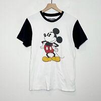 Disney x Vans FLAW Mickey Mouse Original Custom Baseball Tee T-Shirt S Small