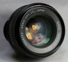 Pentax SMC TAKUMAR 55mm f2 LENS 1:2/55 -m42+Caps-Screw Mount-Adaptable EOS m4/3