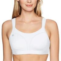 Champion Women's Spot Comfort Full Support Sports Bra, White,, White, Size 38DDD