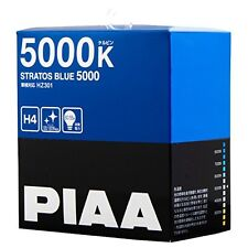 NEW PIAA 5000K STRATOS BLUE 5000 H4 Headlight Halogen Fog Light Bulbs HZ301
