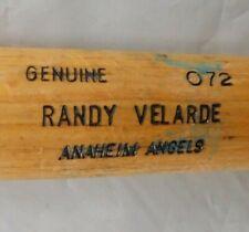 "Randy Velarde Game Used Anaheim Angels Louisville Slugger 072 Cracked 33.5"" Bat"