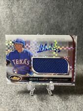 2012 Topps Finest LEONYS MARTIN Jersey Auto /299 Xfractor Rangers RC Card AJR-LM