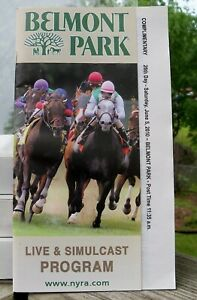 2010 Belmont Stakes Pocket Size Program Drosselmeyer Mike Smith