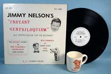Ventriloquist Jimmy Nelson Farfel Puppet Mug Nestles Chocolate & LP Record 1960s