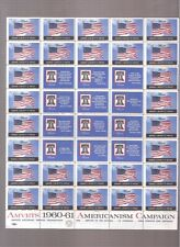 """vintage 1961 Am Vets """"Guard liberty's Voice""""  full pane of 40"""