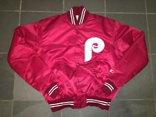 VINTAGE STARTER SATIN DUGOUT JACKET 1980s Philaldelphia Phillies LG never worn