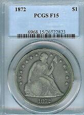 1872 Seated Liberty Dollar : PCGS F15