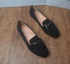 Eckige Zehe Damen Schuhe Sommer Mokassin Loafer Alltag Slipper Ballerina Gr32-44