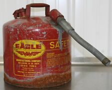 "Eagle U2-51-S Red With 7/8"" O.D. Flex Spout Metal Safety Gas Can"