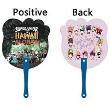 Portable KPOP Super Junior Memory In Hawaii Hand Fan Summer Handmade HeeChul