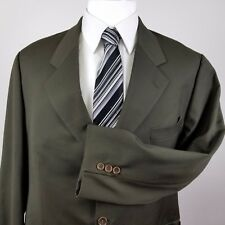 Cavelli Green Men's Blazer Sports Coat Jacket 44R 100% Wool Made in Italy