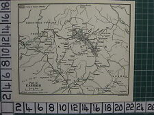 1959 INDIA/PAKISTAN TOURIST MAP ~ PART OF KASHMIR TEMPLE ISLAMABAD SRINAGAR