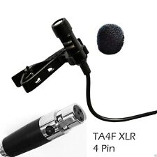 Lapel Microphone Lavalier Mic 4 Pin for Shure microphone wireless stage mic