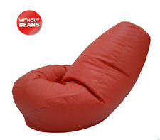 Red Bean Bag Without Beans XXXL Leatherette Chair CoverFor Home Decor
