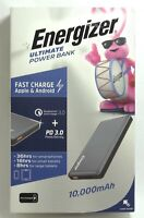 Energizer Ultimate Lithium 10,000mAh Fast Charge Portable Charger with QC/PD 3.0