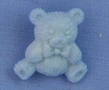 Blue Teddy Craft Button (x 2 buttons)