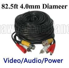 82ft All-in-one Video,Power,Audio cable 4mm OD for CCTV BNC Cameras