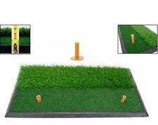 Golf 2 in 1 Abschlagmatte 60x30 cm mit Rough + Fairway inkl gummi Tee / Training