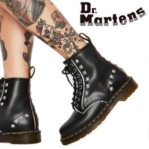 NIB Dr. Martens 1460 Stud Core Applique 8 Eye Lace Up Boots R25202001 Black
