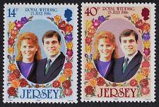 Z669 JERSEY 1986 #404-05 Prince Andrew & Fergie Royal Wedding Mint NH