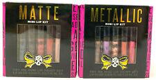 (2) Tattoo Junkee Metallic Mini Lip Kit & Matte Mini Lip Kit Sealed 5 Paints EA