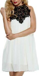 Lipsy Guipure Lace Crochet Neck Dress Size 10