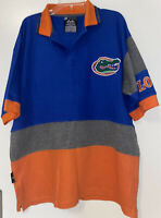 Florida Gators Blue White Orange Embroidered Polo Shirt X-Large Vintage Mirage